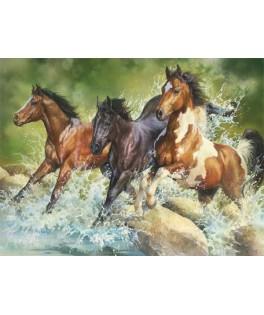 26148 - Puzzle tres caballos salvajes, 1500 piezas, Trefl