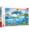 26162 - Puzzle familia de delfines, 1500 piezas, Trefl