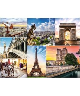 33065 - Puzzle collage de imagenes de París, 3000 piezas, Trefl