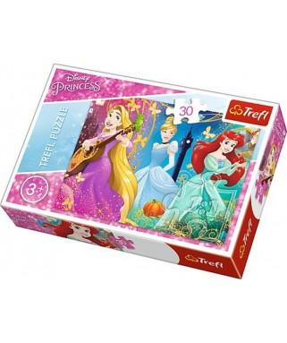 18234 - Puzzle Princesas Disney, 30 piezas, Trefl
