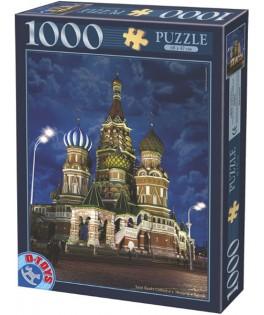 64301NL10 - Puzzle Catedral de San Basilio, 1000 piezas, D Toys