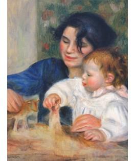 66909RE10 - Puzzle Gabrielle y Jean Pierre Auguste renoir, 1000 piezas, D Toys