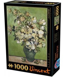 75871 - Puzzle Diseños de Rosa Color Rosa, 1000 piezas, D Toys