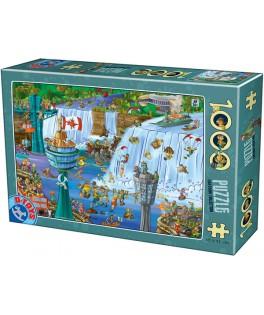 75932 - Puzzle Las Cataratas del Níagara, 1000 piezas, D Toys