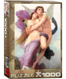 6000-0019 - Puzzle el rapto de Psique, William Adolphe Bouguereau, 1000 piezas, Eurographics