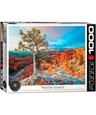 6000-0692 - Puzzle amanecer de invierno, 1000 piezas, Eurographics