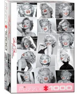 6000-0809 - Puzzle Marilyn Monroe labios rojos, 1000 piezas, Eurographics