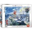 6000-0850 - Puzzle vista de París, Marc Chagall, 1000 piezas, Eurographics