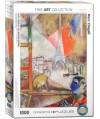6000-0853 - Puzzle París por la ventana, Marc Chagall, 1000 piezas, Eurographics