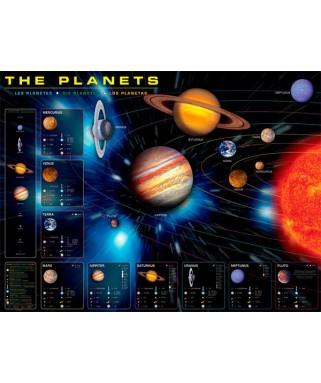 6000-1009 - Puzzle los planetas, 1000 piezas, Eurographics