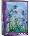 6000-2034 - Puzzle flores de iris, Claude Monet, 1000 piezas, Eurographics