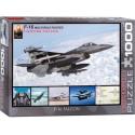 6000-4956 - Puzzle falcon f-16, 1000 piezas, Eurographics