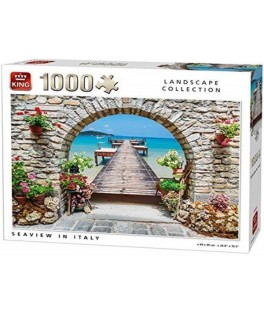 05710 - Puzzle vista del mar, Italia, 1000 piezas, king International