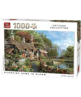 05718 - Puzzle orilla de casa en floración, 1000 piezas, king International