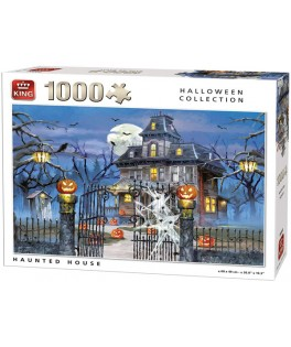 05723 - Puzzle casa encantada, halloween, 1000 piezas, king International
