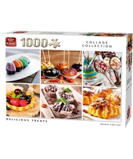 05766 - Puzzle deliciosas tentaciones, 1000 piezas, King International