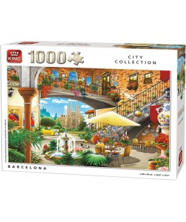 55853 - Puzzle Barcelona, 1000 piezas, King International
