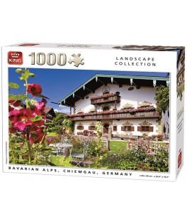 55854 - Puzzle Chiemgau, Alpes Bávaros, 1000 piezas, King International