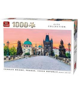 55859 - Puzzle puente de Carlos, Praga, 1000 piezas, King International