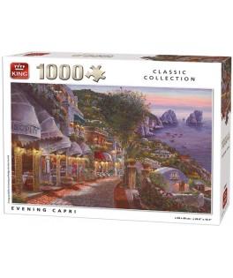 55863 - Puzzle Capri de noche, 1000 piezas, King International