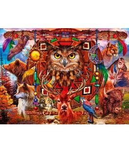 70257 - Puzzle Totem de Animales, 4000 piezas, Bluebird