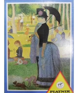 5006 - Comprar Minipuzzle Tarde de domingo en la isla de la Grande Jatte, Georges Pierre Seurat, 54 piezas, Piatnik