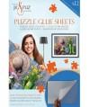 8566- 12 Láminas Pegamento para Puzzles, Jig and Puzz