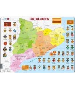 A29 - Puzzle Catalunya, Mapa Político, 70 Piezas, Larsen