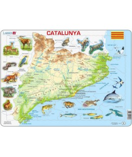 A28 - Puzzle Catalunya, Maxi 60 Piezas, Larsen