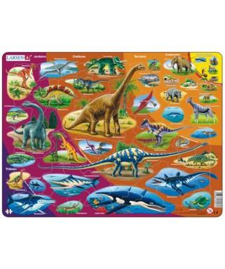 HL1 - Puzzle Dinosaurios, 85 piezas, Larsen