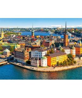 52790 - Puzzle Barrio Antiguo de Estocolmo, 500 piezas, Castorland