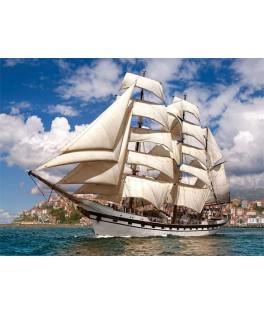 52851 - Puzzle Barco Saliendo del Puerto, 500 piezas, Castorland