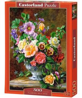 52868 - Puzzle Flores en un Jarrón, Albert Williams, 500 piezas, Castorland