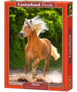 52981 - Puzzle Haflinger Corriendo, 500 piezas, Castorland