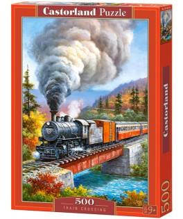 53216 - Puzzle La Travesía del Tren, 500 piezas, Castorland