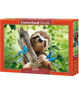 53223 - Puzzle No tengas Prisa, Se Feliz, 500 piezas, Castorland