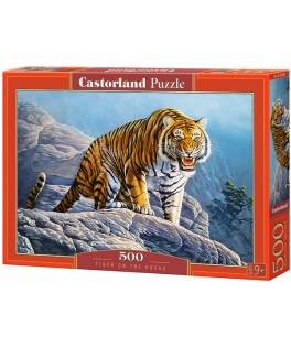 53346 - Puzzle Tigre en las Rocas, 500 piezas, Castorland