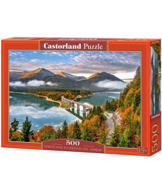 53353 - Puzzle Amanecer en el Lago Sylvenstein, 500 piezas, Castorland