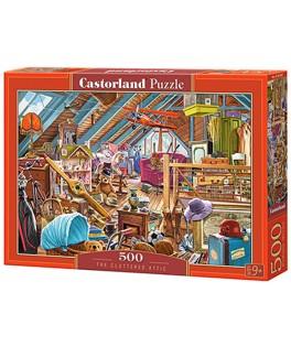53407 - Puzzle El Ático Desordenado, 500 piezas, Castorland
