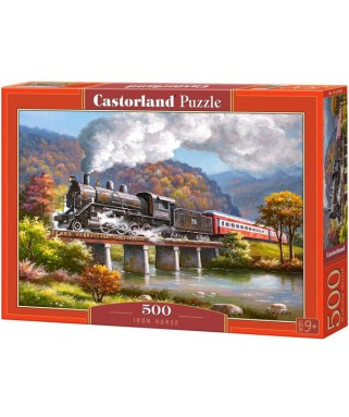 53452 - Puzzle Caballo de Hierro, 500 piezas, Castorland