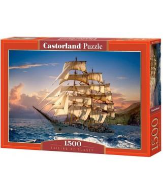 151431 - Puzzle Navegando al Atardecer, 1500 piezas, Castorland