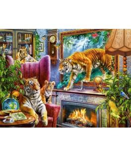 300556 - Puzzle Tigres Volviéndose Reales, 3000 piezas, Castorland