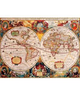 70246 - Puzzle Mapa del Mundo Antiguo, 1000 piezas, Bluebird