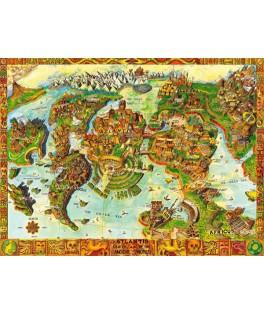 70317 - Puzzle Atlantis Centro del Mundo Antiguo, 1000 piezas, Bluebird