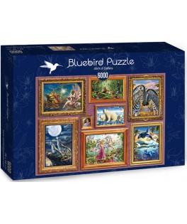 70261 - Puzzle Galería de Chicas 8, 6000 piezas, Bluebird