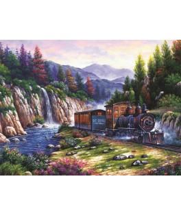 4233 - Puzzle viajando en tren, 1000 piezas, Art Puzzle