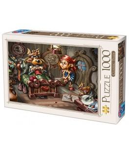 75222 - Puzzle Caperucita Roja, 1000 piezas, D-Toys