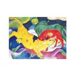 Comprar Minipuzzle Franz Marc – Acobarda rojo, verde, amarillo