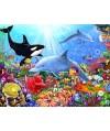 70028 - Puzzle Mundo Submarino Brillante, 1500 piezas, Bluebird