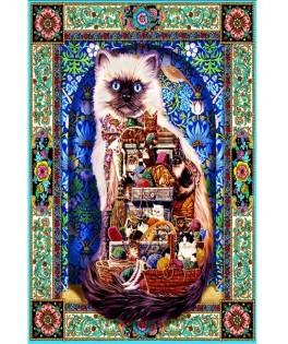 70154 - Puzzle Abundancia de gatos, 1500 piezas, Bluebird